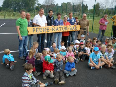 Eröffnung der Sport- und Freizeitanlage bei der Peene und Verleihung des Namens