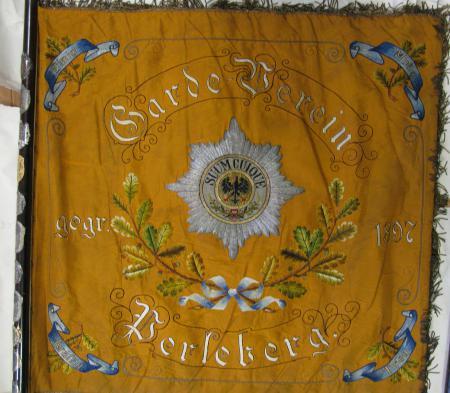 Fahne Garde-Verein Perleberg