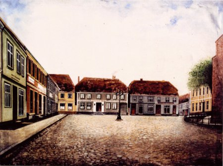 Der Markt, gemalt von Emil Rothenhäuser um 1930