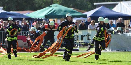 Feuerwehrsport in Landsberg - jährlich findet der Parkpokallauf in Gollma statt