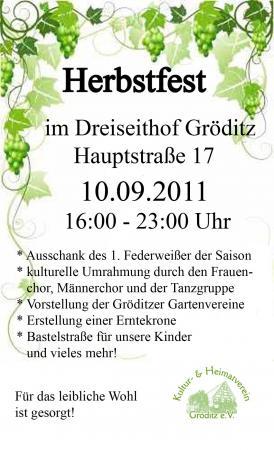 Herbstfest Plakat