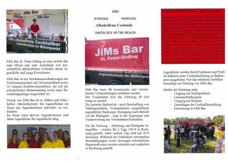 Flyer JiMs Bar Seite 2