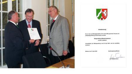 Foto Urkunde Übergabe
