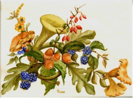 Helga Winkler - Waldimpressionen - Aufglas-Malerei