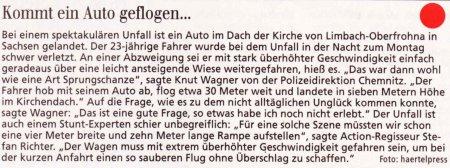 FW 2009.01.27 Auto im Kirchendach 2