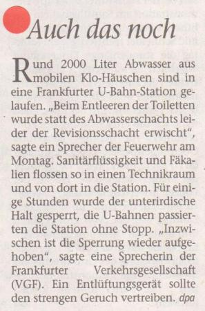 FW 2013.06.04 Abwasser in U-Bahn-Station
