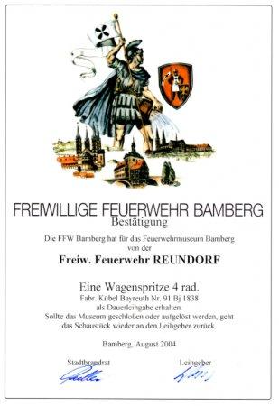 FW-Pumpe Urkunde