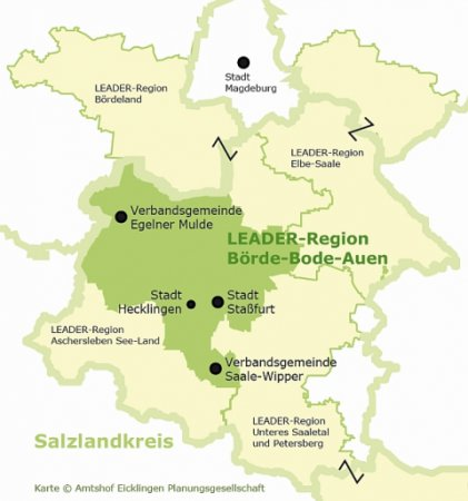 Gebiet Leaderregion Börde-Bode-Auen