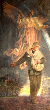Gemälde im Kirchenraum rechts