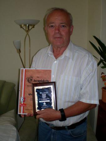 Ehrenplakette des KFV für W. Geppert