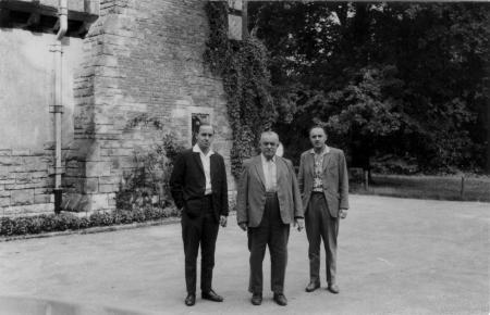 Dr. Rademacher (Mitte) in Harzgerode, 23.8.1963