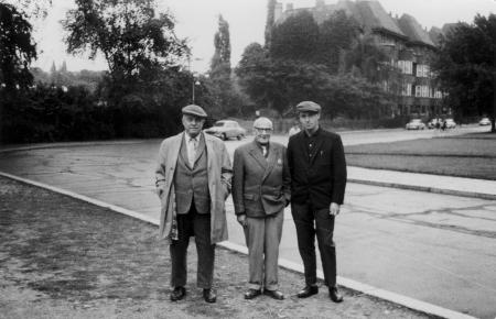 Dr. Rademacher (links) in Harzgerode, 22.8.1963