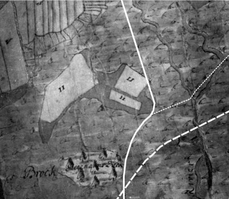 Der Gilkenwerder auf der Karte von 1727
