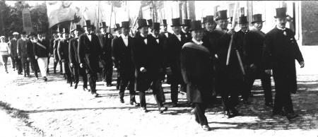 Einholung der neuen Glocken vom Bahnhof am 22. September 1929