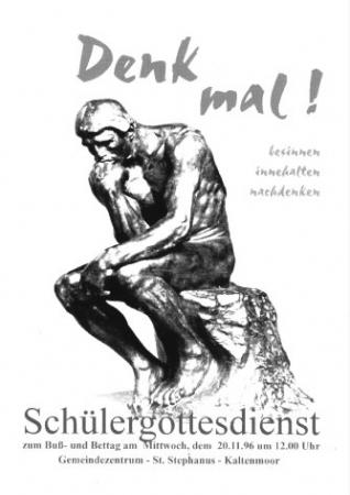 Bußtag 1996 (Plakat)