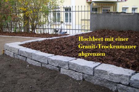 Trockenmauer für Hochbeet Bautzen