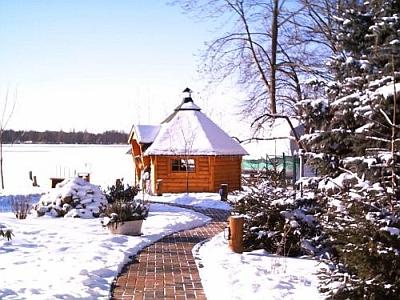 Grillhütte im Winter