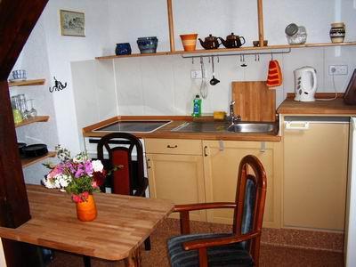 Küche im Obergeschoß