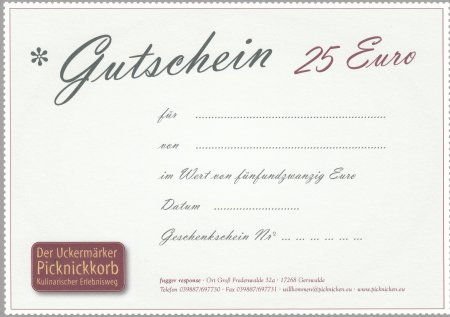 Gutschein 25