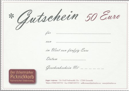 Gutscheim 50