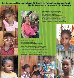 Haareschneiden für Kinder im Kongo