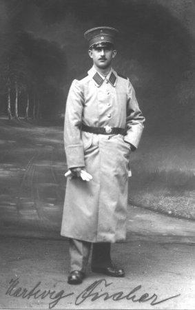 Hartwig Fischer als Musketier im I. Weltkrieg