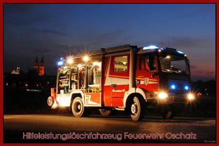 Hilfeleistungslöschfahrzeug Nacht