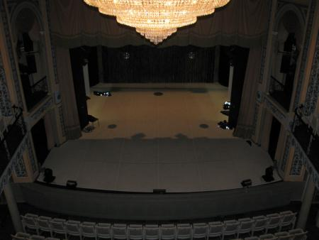 Blick auf die Bühne
