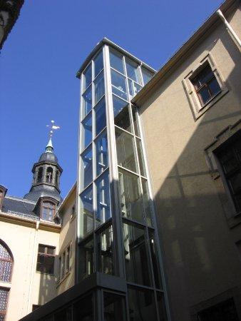 Anbau Aufzug Rathaus Crimmitschau