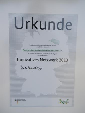 Innovationspreis Urkunde