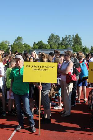Beim Integrationssportfest