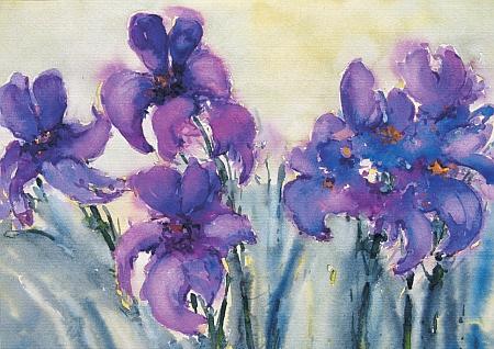 Iris in Violett, 1993