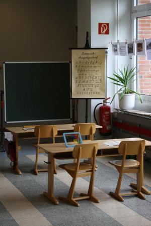 Schulraum damals