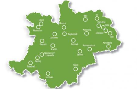 Karte Oberfranken