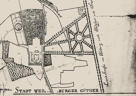 Karte von 1757 (Original HHStA Wiesbaden)