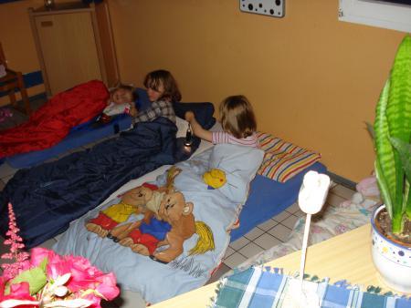 Übernachten im Kindergarten