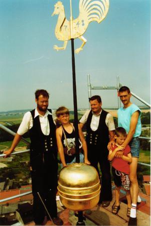 Kirchturmrenovierung Juni 1994