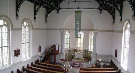 Innenraum der Hinsdorfer Kirche