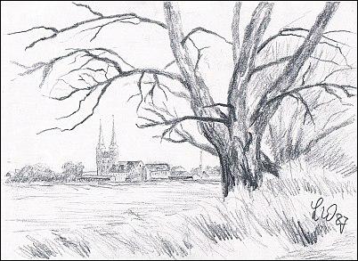 Kloster - Elbniederung mit Blick auf Kloster
