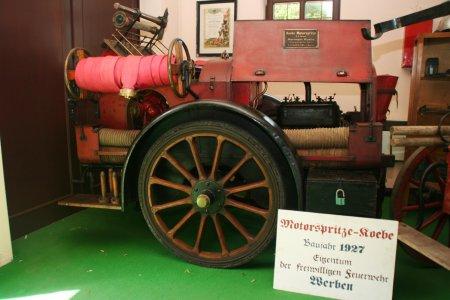 Koebe-Motorspritze Werben im FW-Museum