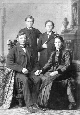 Familienfoto Kohfeldt, etwa aus dem Jahre 1888