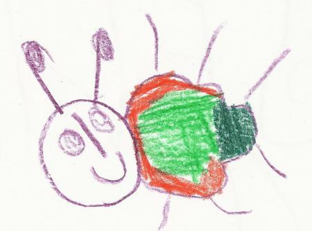 Krabbelkäfer gemalt von Selina