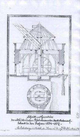 Kran Andernach Zeichnung