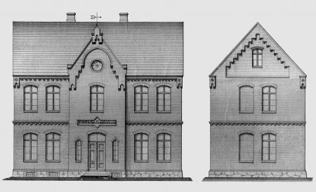 Entwürfe zum Bau des Krankenhauses von Maurermeister Harm (Februar 1887) 1