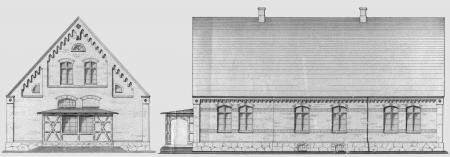 Entwürfe zum Bau des Krankenhauses von Maurermeister Harm (Februar 1887) 2