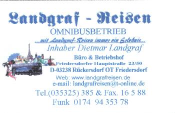 Landgraf - Reisen
