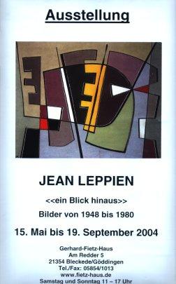 Leppien- Ausstellungsplakat Göddingen 2004