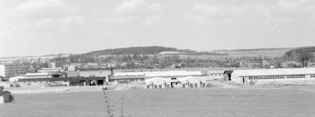 Blick vom Mühlenberg auf das LPG-Gelände, Mai 1979