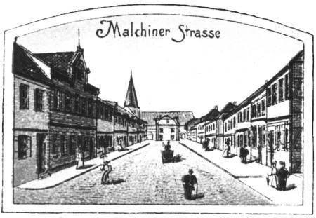 Die Malchiner Straße um 1895