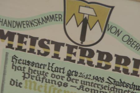 Meisterbrief Karl Heußner
